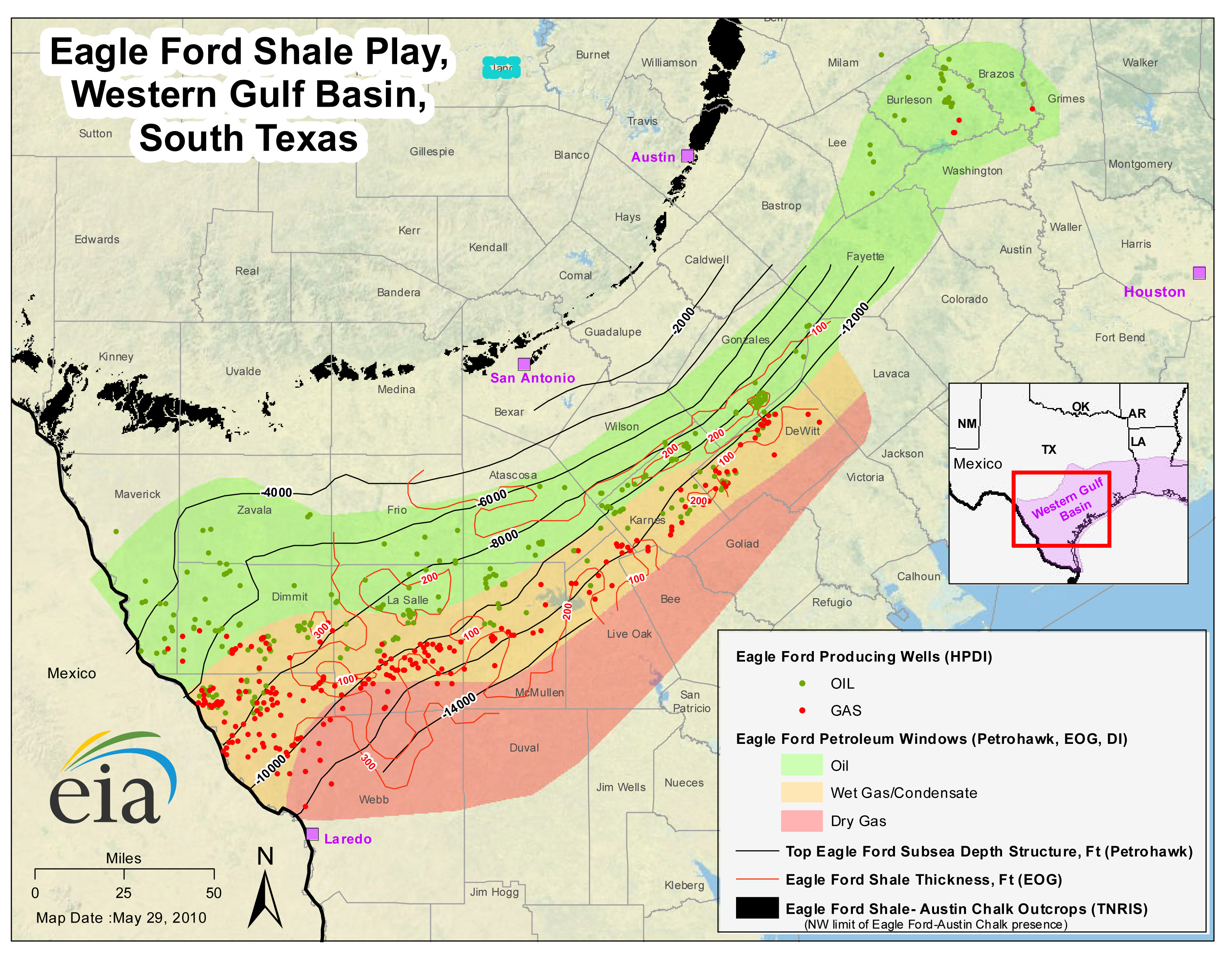 Eagle Ford Map from US Energy Information Administration Eagle