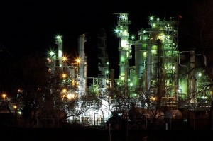 refineryat night
