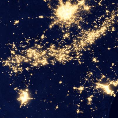nasa satellite image night eagle ford