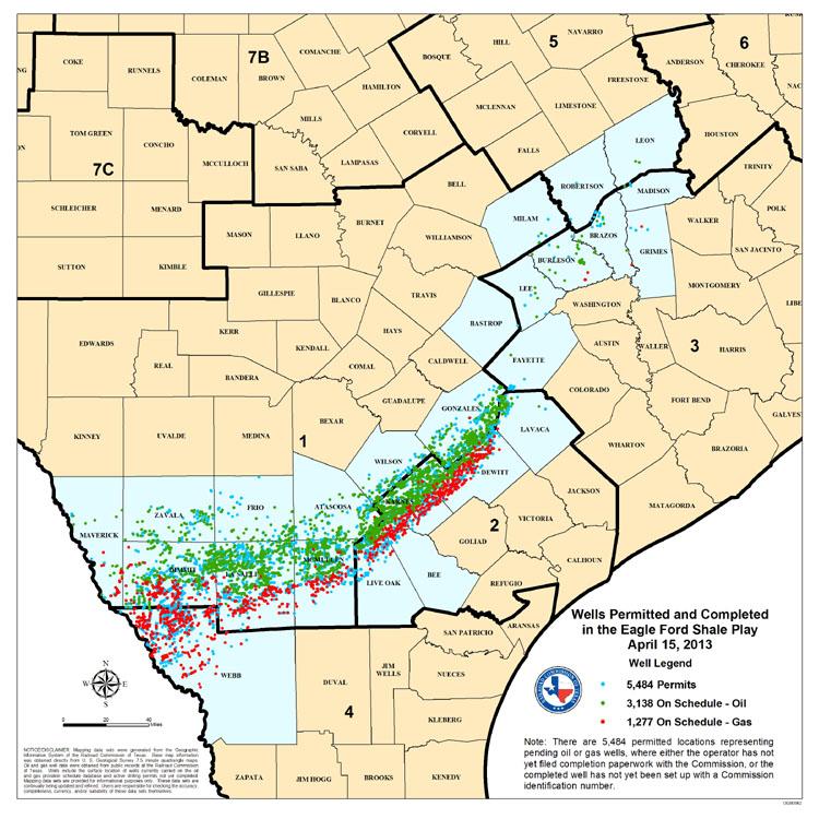 Eagel Ford Map April 2013